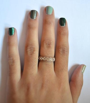 Super Easy & Super Glam Metallic Nail Art Tutorial